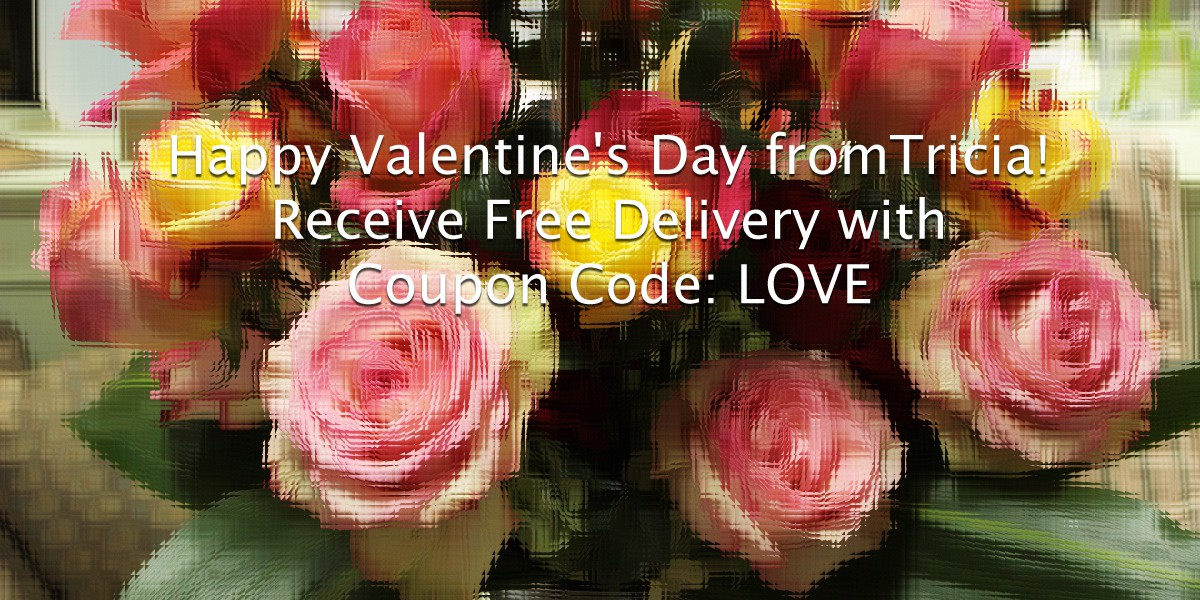 Happy Valentine's Day from Tricia! Receive Free Delivery with Coupon Code: LOVE