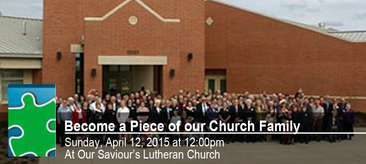 Become a Piece of our Church Family