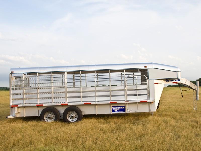 gooseneck trailers aluminium stock trailer